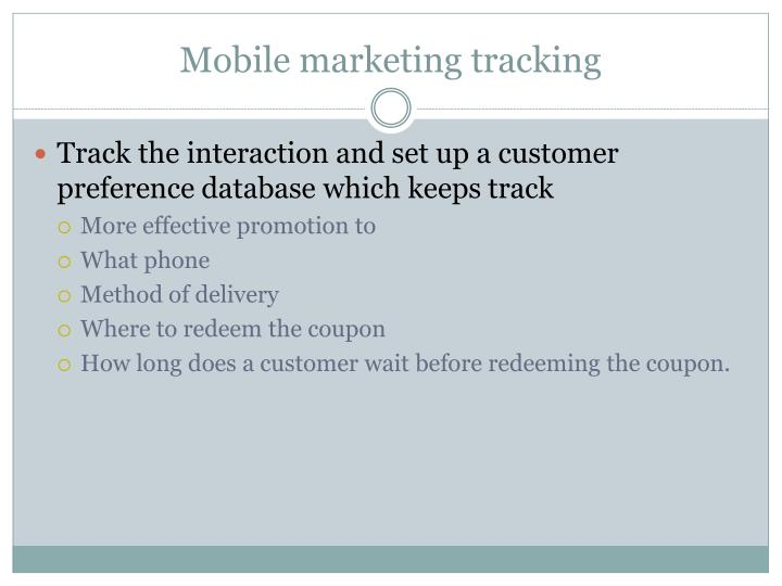 Mobile marketing tracking