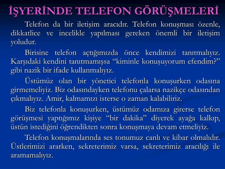 YERNDE TELEFON GRMELER