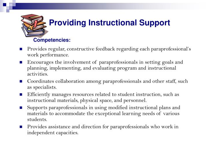 Providing Instructional Support