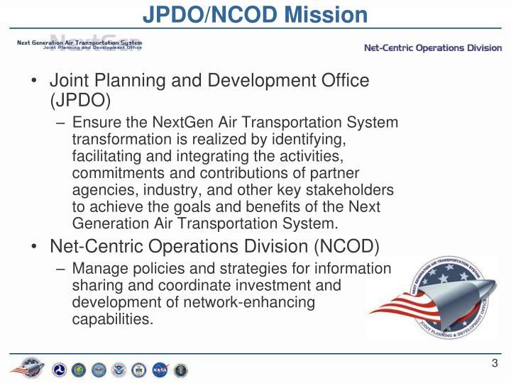 JPDO/NCOD Mission