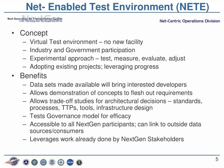 Net- Enabled Test Environment (NETE)