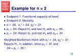 example for n 2