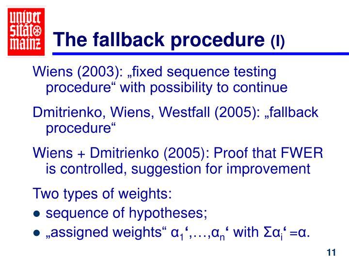 The fallback procedure