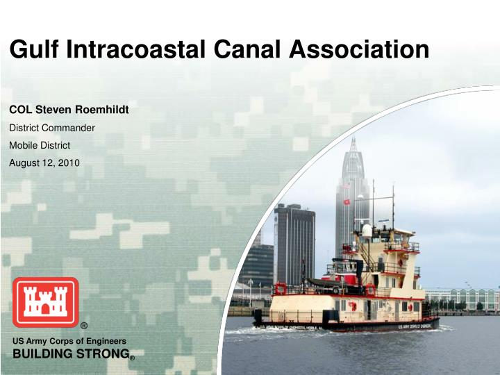 Gulf intracoastal canal association