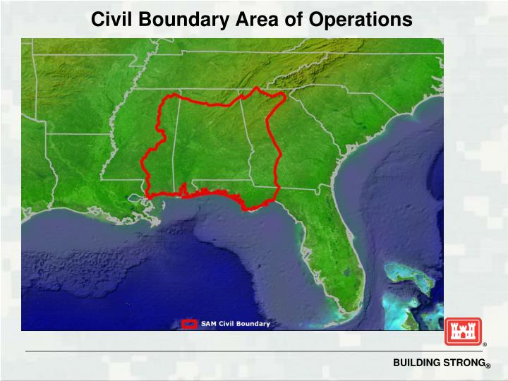 Civil Boundary Area of Operations