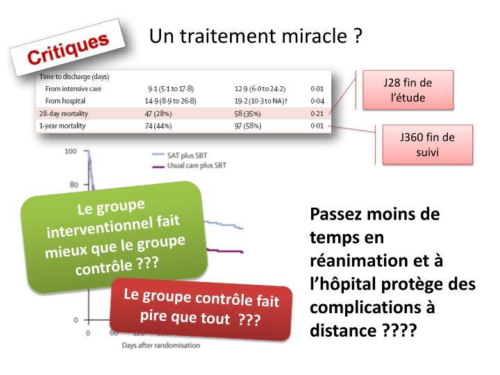 Un traitement miracle ?