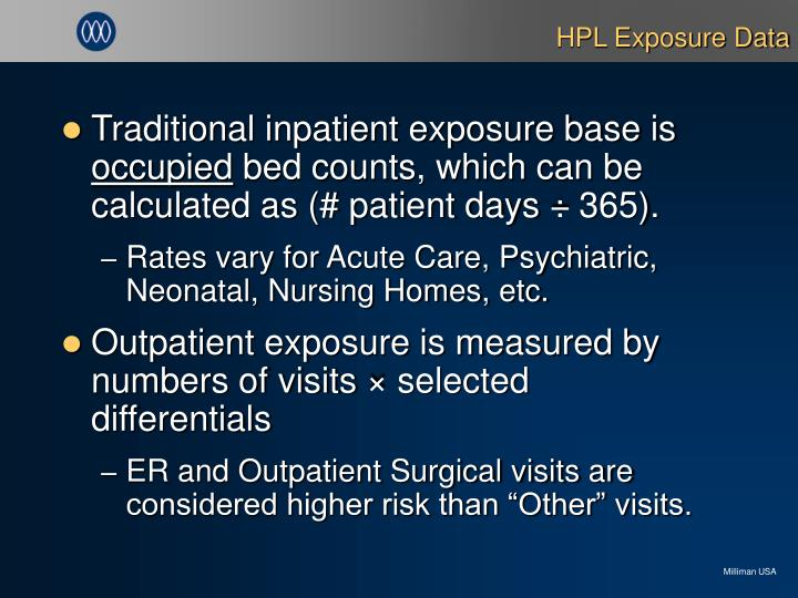 HPL Exposure Data