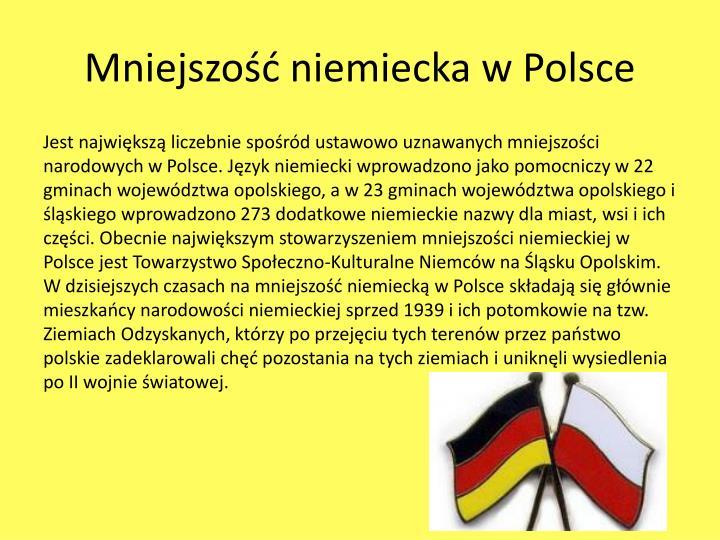 Mniejszość niemiecka w Polsce