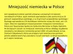 mniejszo niemiecka w polsce