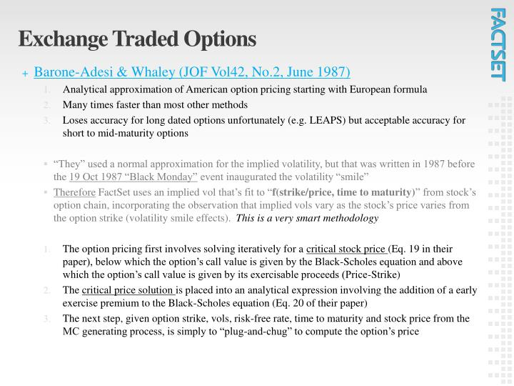 Option trade etf