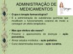 administra o de medicamentos