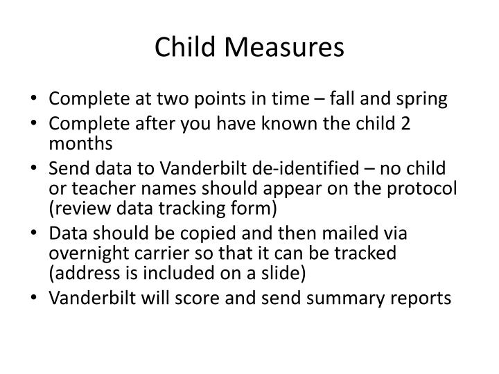 Child Measures