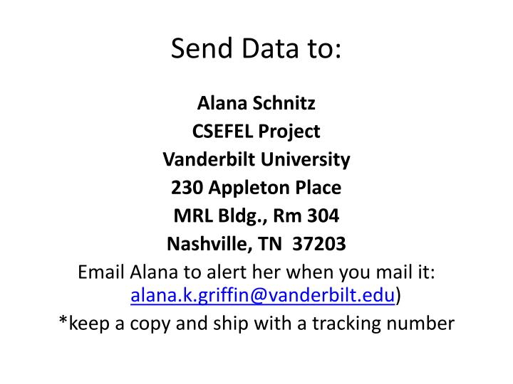 Send Data to: