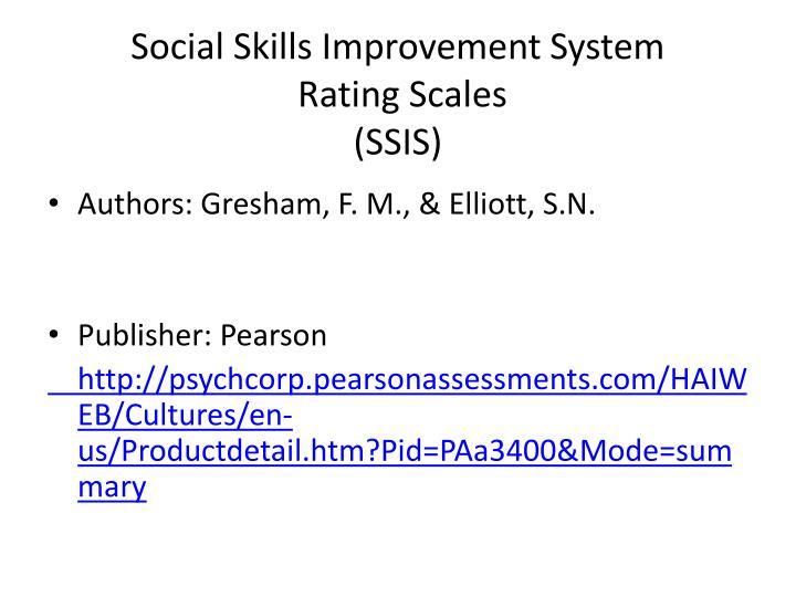 Social Skills Improvement System