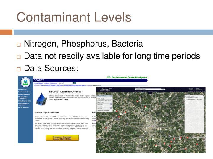 Contaminant Levels