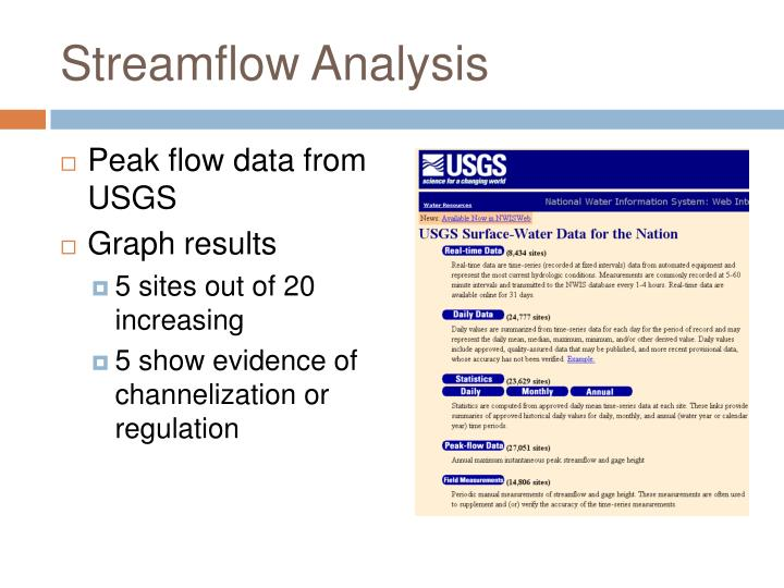 Streamflow Analysis