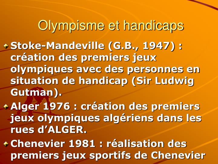 Olympisme et handicaps