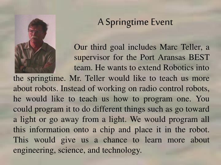 A Springtime Event
