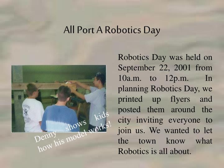 All Port A Robotics Day