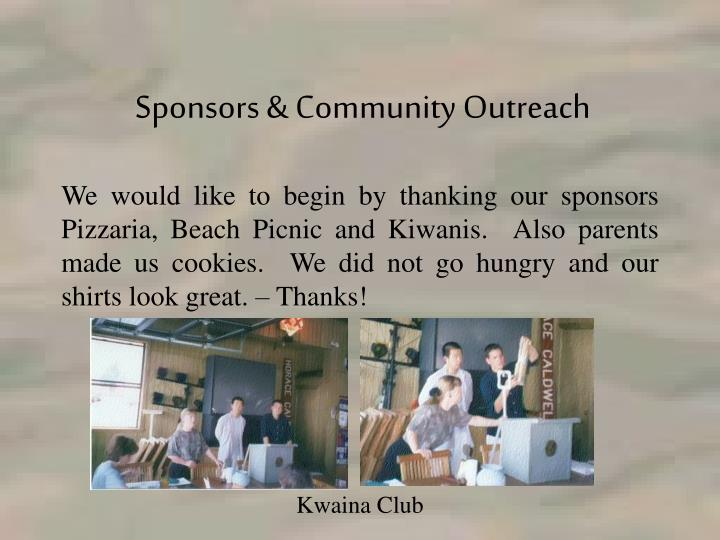 Sponsors & Community Outreach