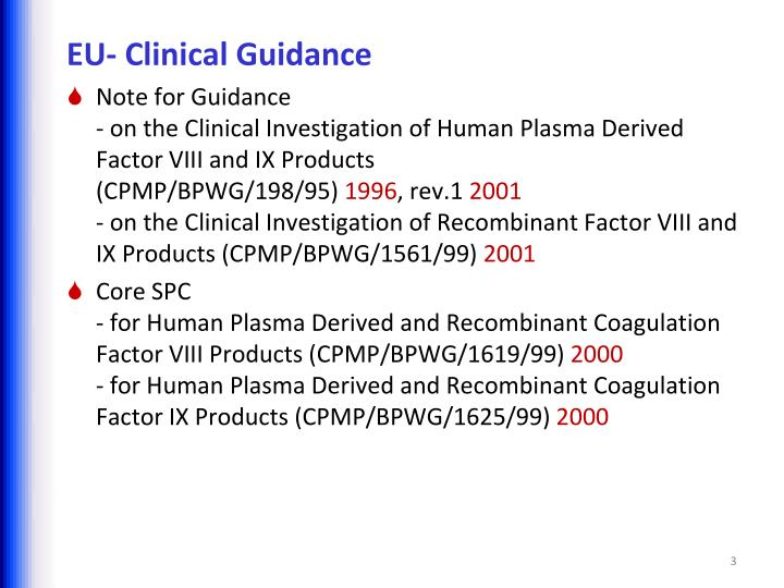 EU- Clinical Guidance