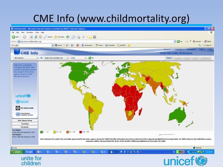 CME Info (www.childmortality.org)