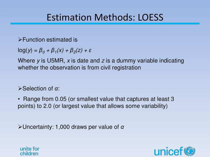Estimation Methods: LOESS