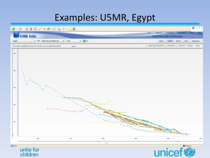 Examples: U5MR, Egypt