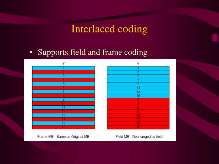 Interlaced coding