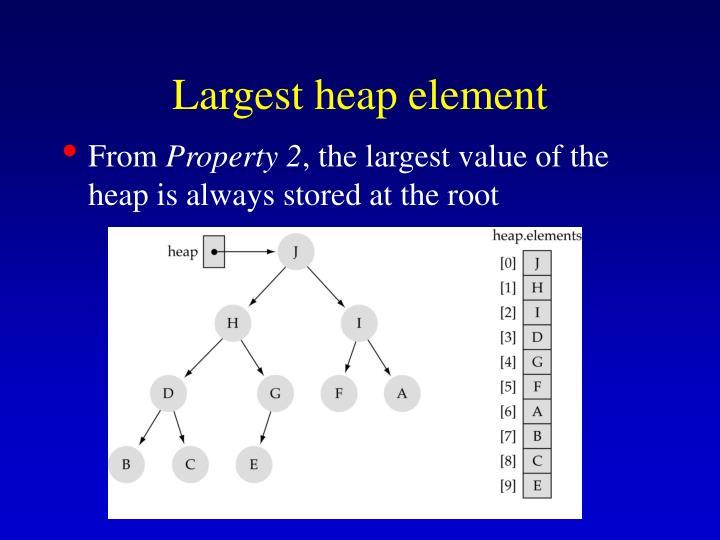 Largest heap element