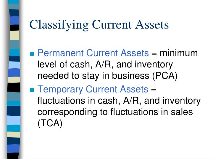 Classifying Current Assets