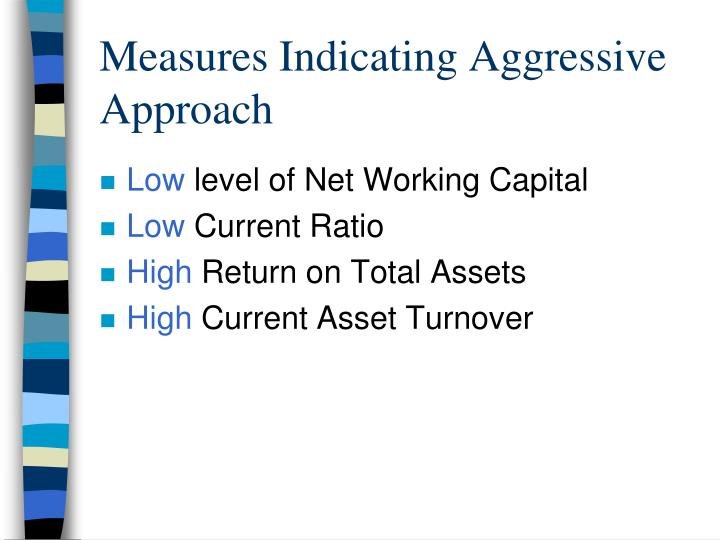 Measures Indicating Aggressive Approach
