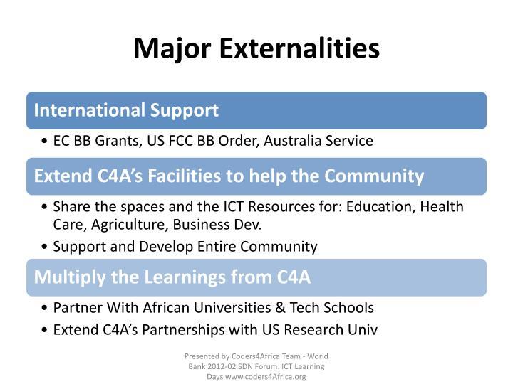Major Externalities