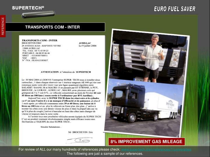 TRANSPORTS COM - INTER