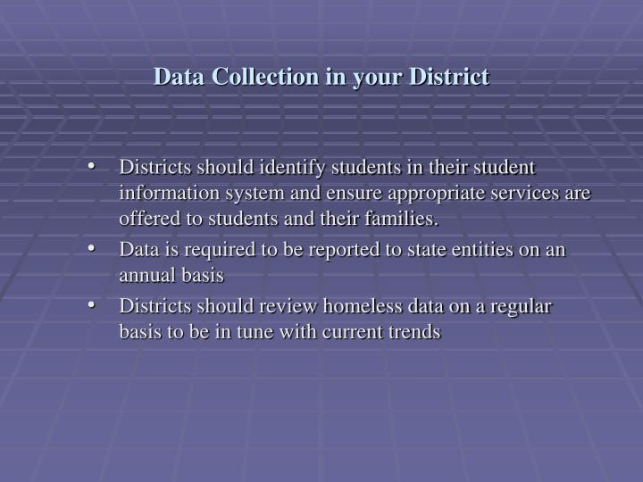 Data Collection in your District