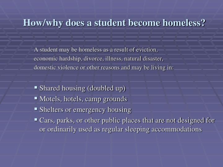 How/why does a student become homeless?