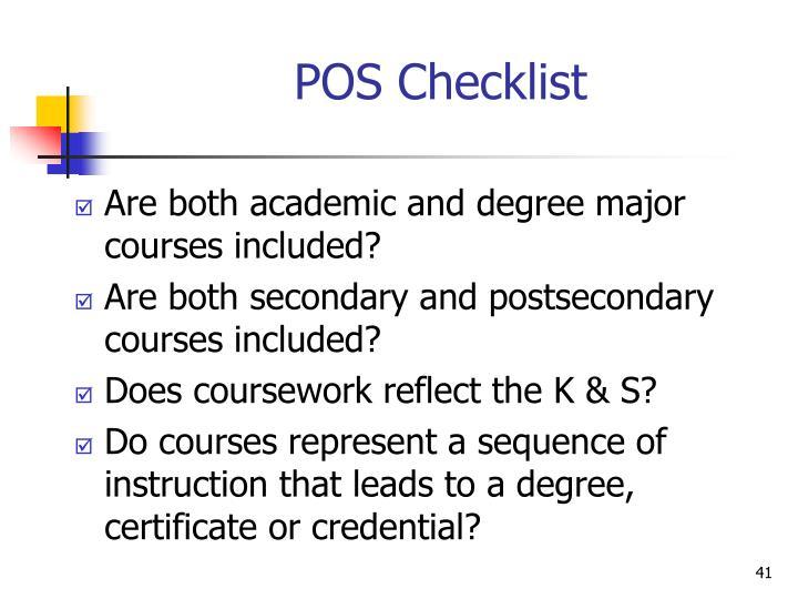 POS Checklist