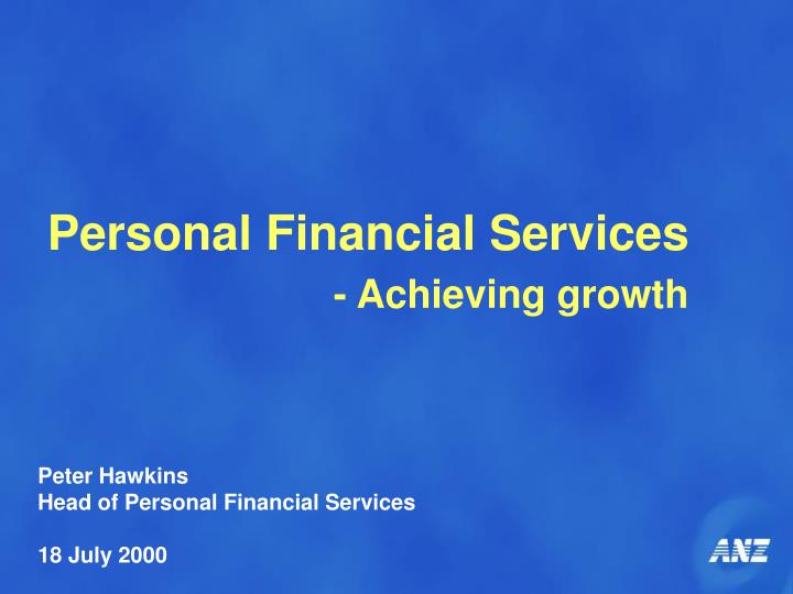 Personal Financial Services
