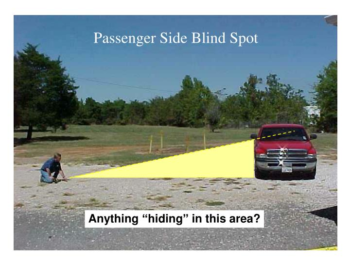 Passenger Side Blind Spot
