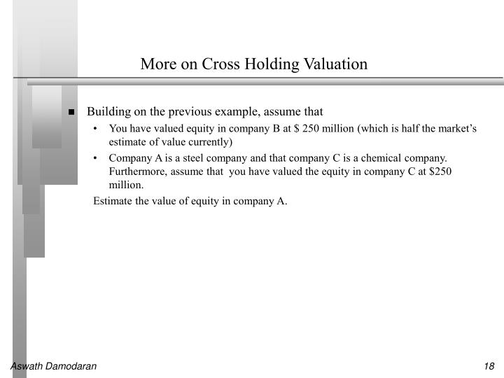 More on Cross Holding Valuation