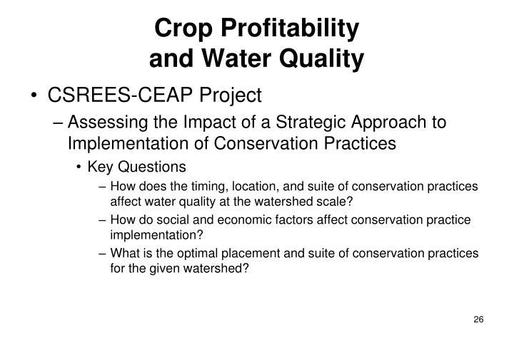Crop Profitability