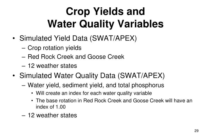 Crop Yields and