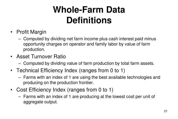 Whole-Farm Data