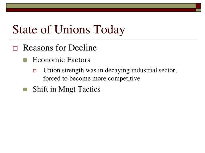 todays unions A recent article by the economic policy institute (epi) outlined the importance of  today's unions in empowering all modern workers amidst.