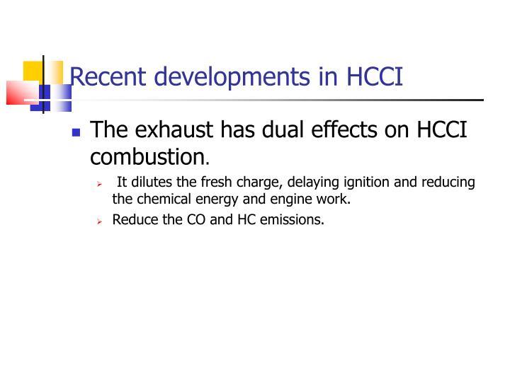 Recent developments in HCCI