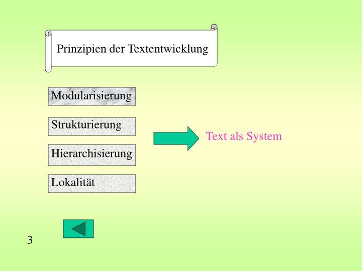 Prinzipien der Textentwicklung