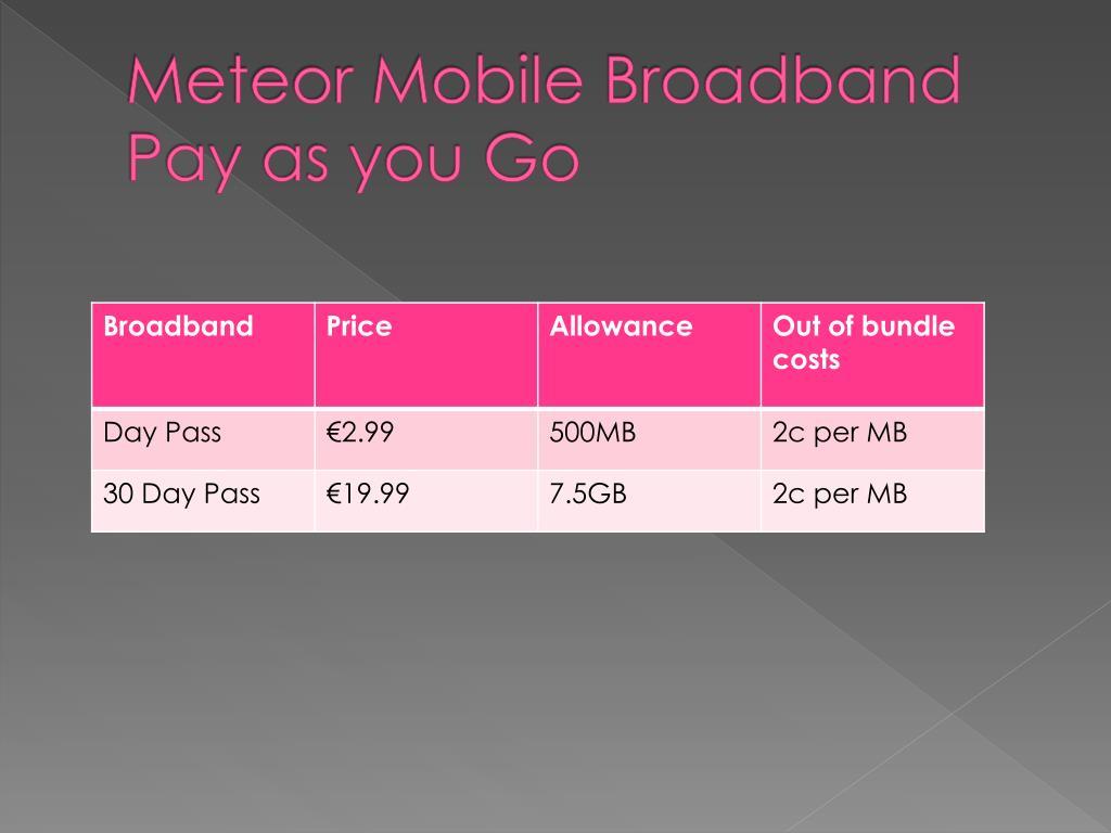 Meteor Mobile Broadband