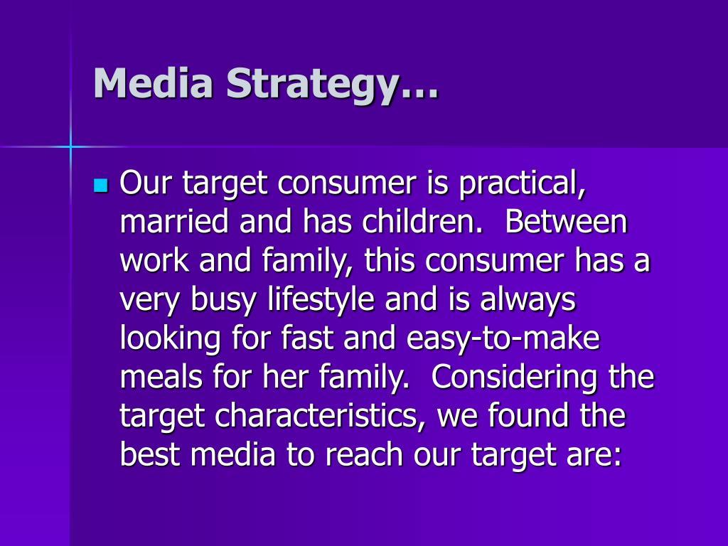 Media Strategy…