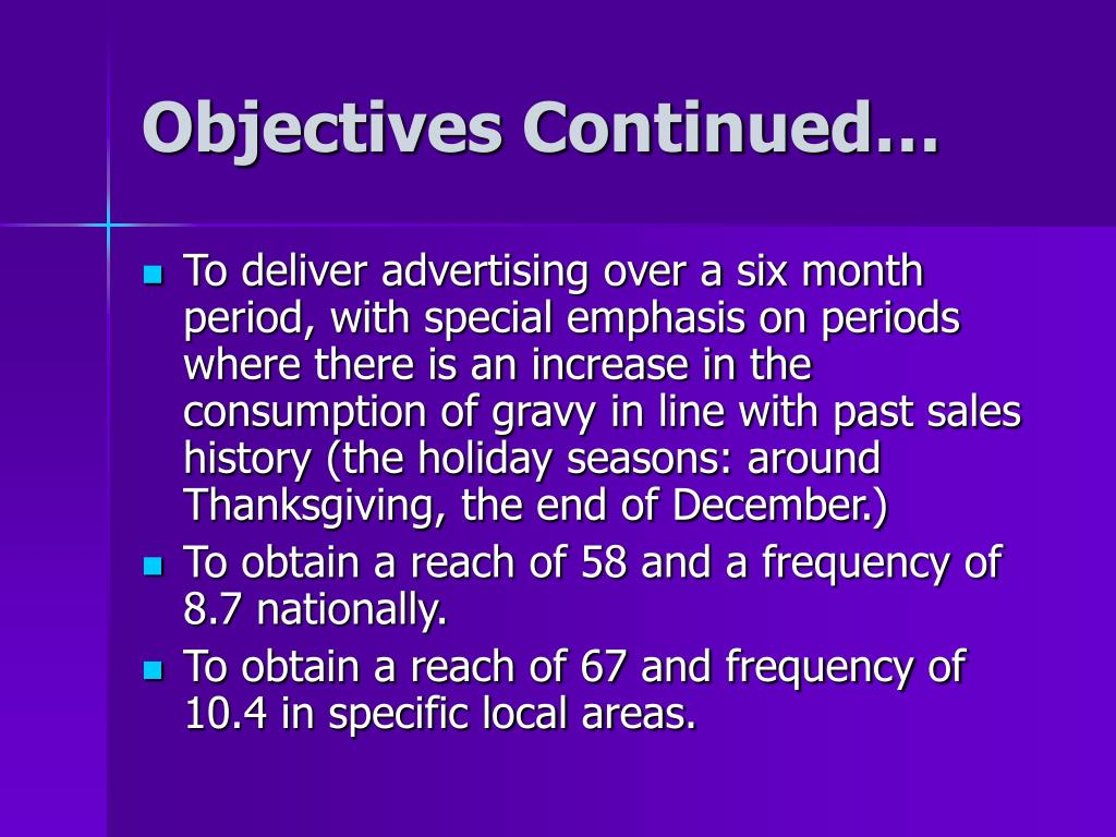 Objectives Continued…