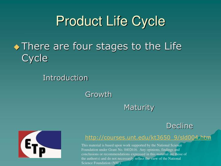 Product Life Cycle
